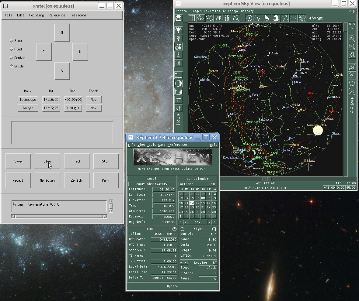 XmTel Research Telescope Control for Linux